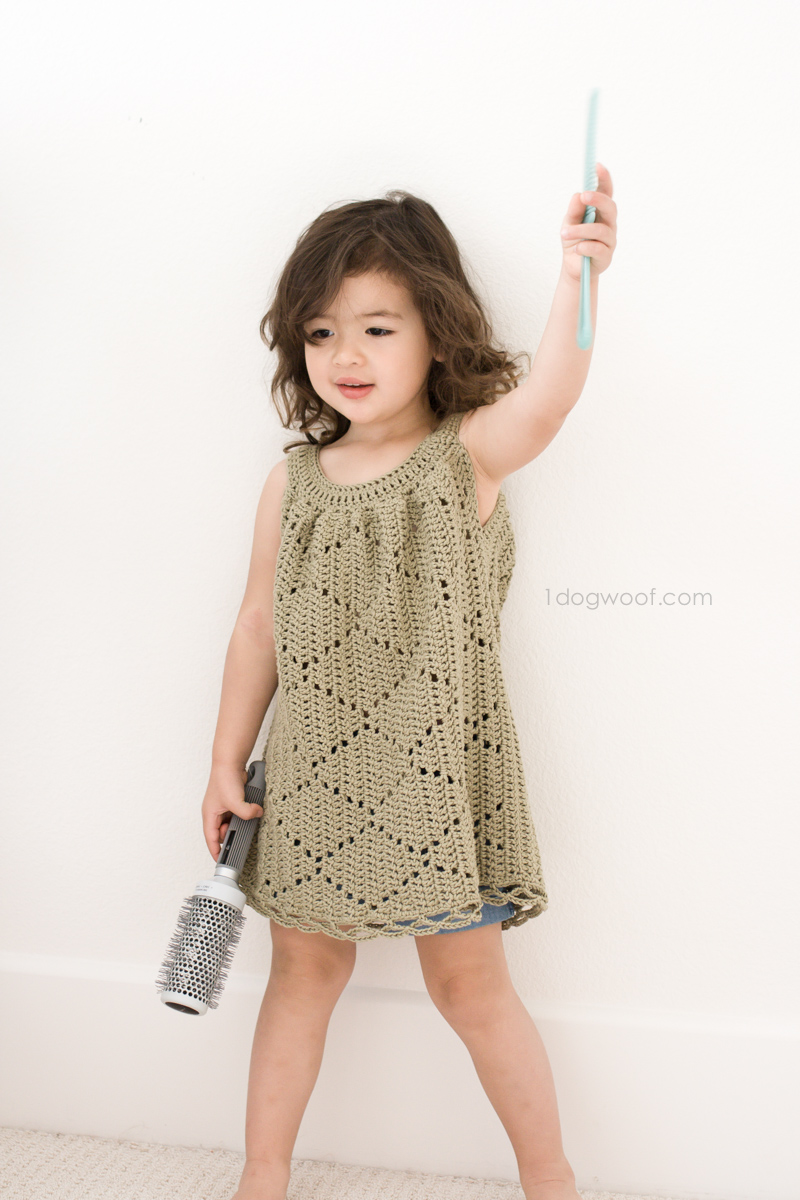 Summer Diamonds crochet tunic dress
