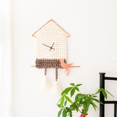 Yarn Cuckoo Clock Wall Hanging
