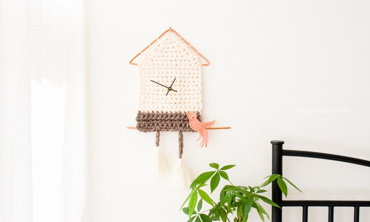 Fun and functional, simple and modern, a yarn cuckoo clock