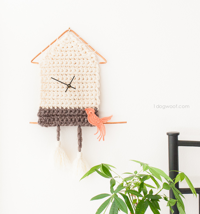 Add fun and functional decor to your home with this yarn cuckoo clock!