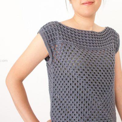 Granny Squared Crochet Top