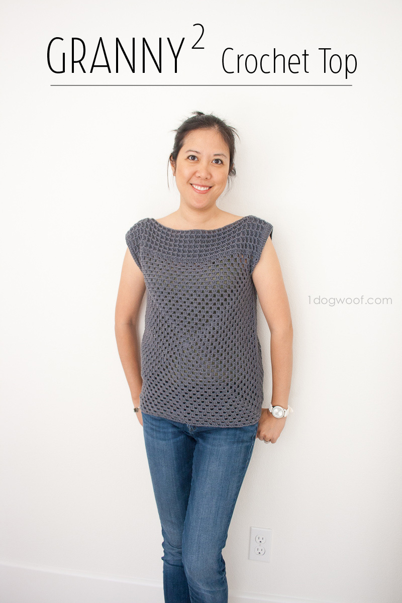 The Granny Squared Crochet Top by 1DogWoof!