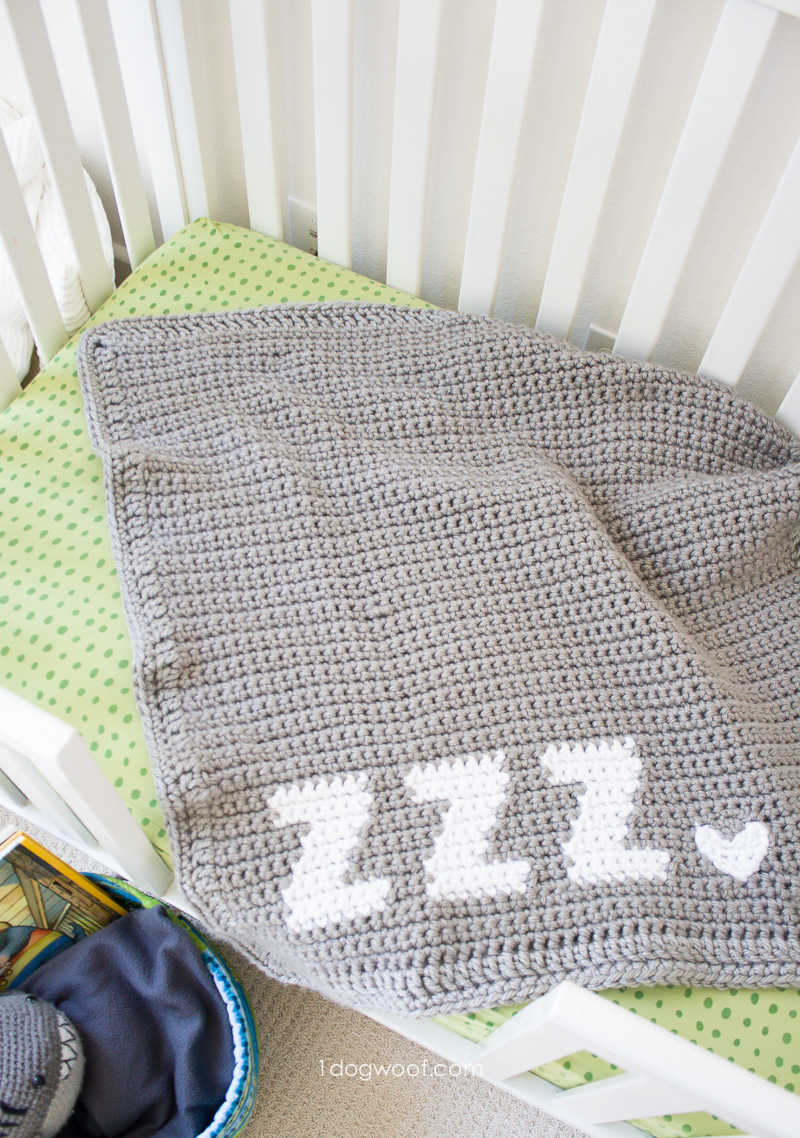 Crocheting Letters Into Blankets : Get Some Zzz?s crochet baby blanket graph