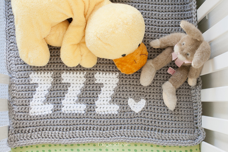 Get Some Zzz's baby blanket