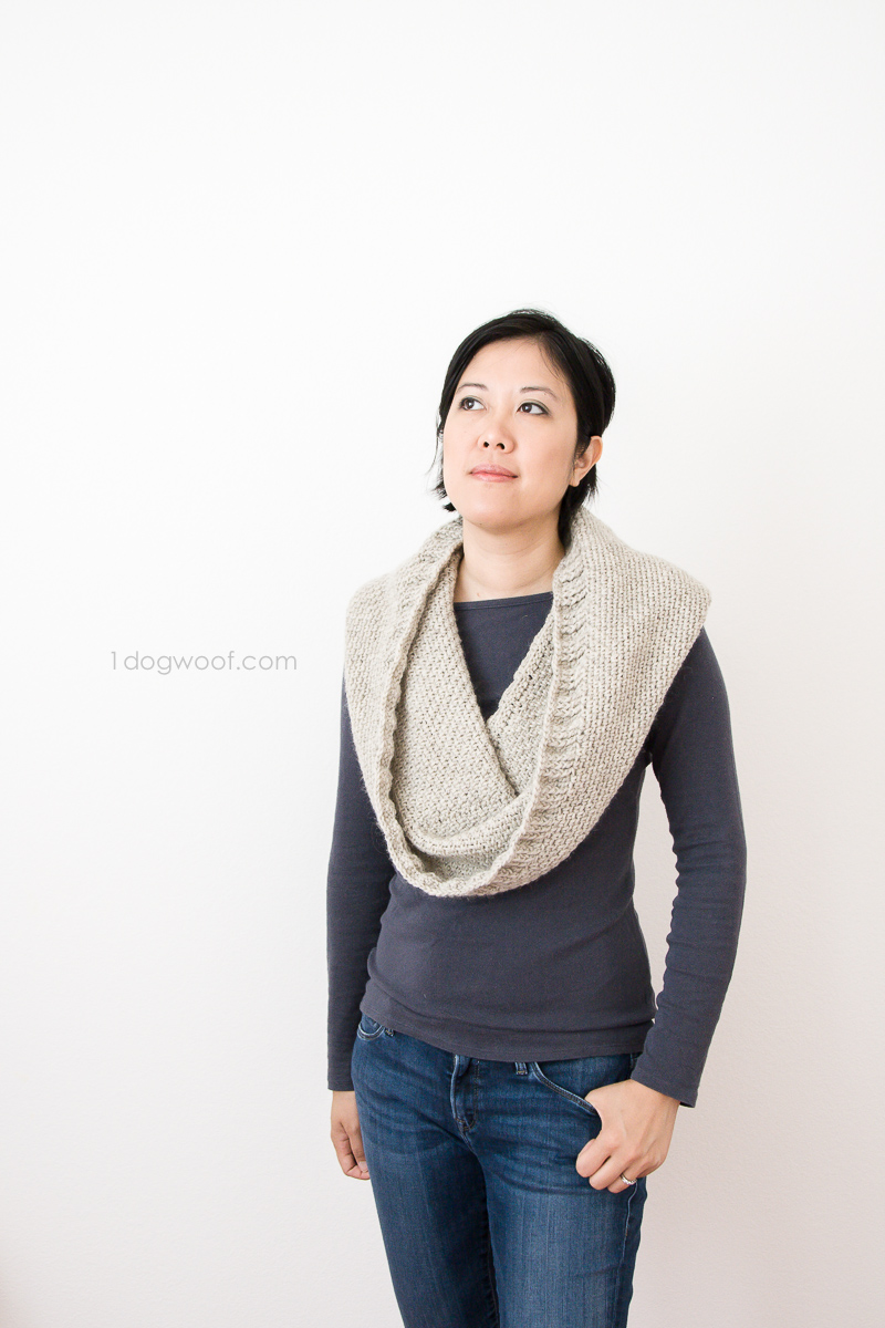 Looks like a cowl, but this one has a hidden hood on the back!