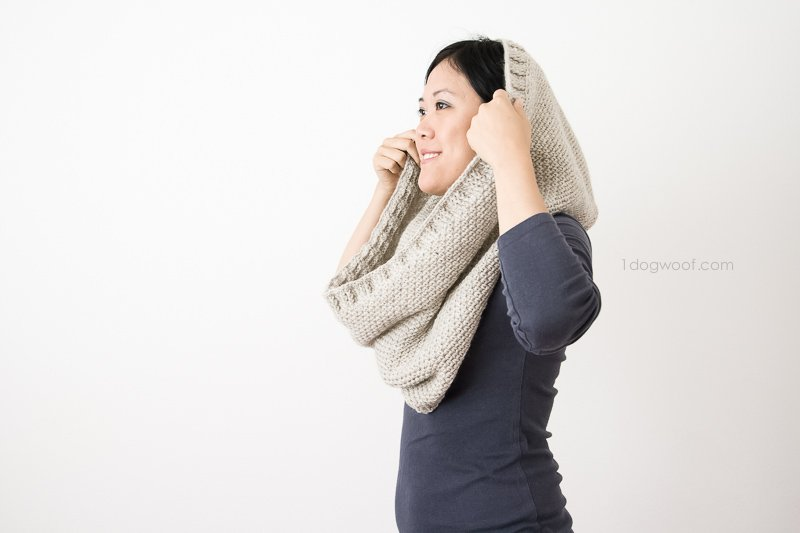 Hideaway Hooded Scarf is a cowl with a hood