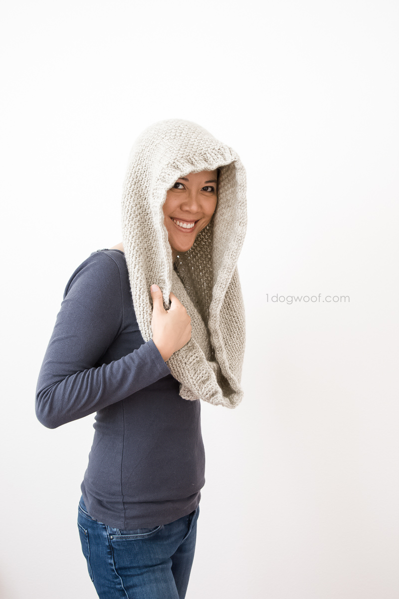 This Hideaway Hooded Scarf can be used as a cowl or a hood - for when you're cold or when you want a place to hide.