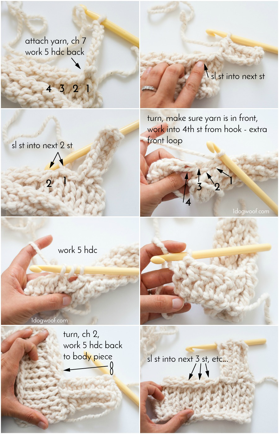 How to attach a ribbed border directly to a crochet piece