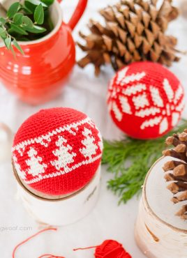 Fair Isle Evergreen Christmas Ornament