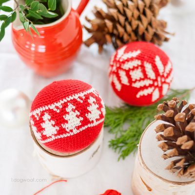 DIY Fair Isle Evergreen Christmas Ornament