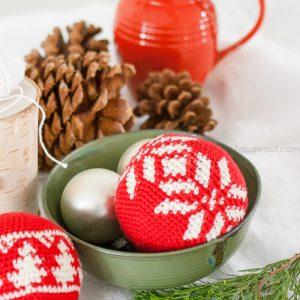 Fair Isle Snowflake Christmas Ornament