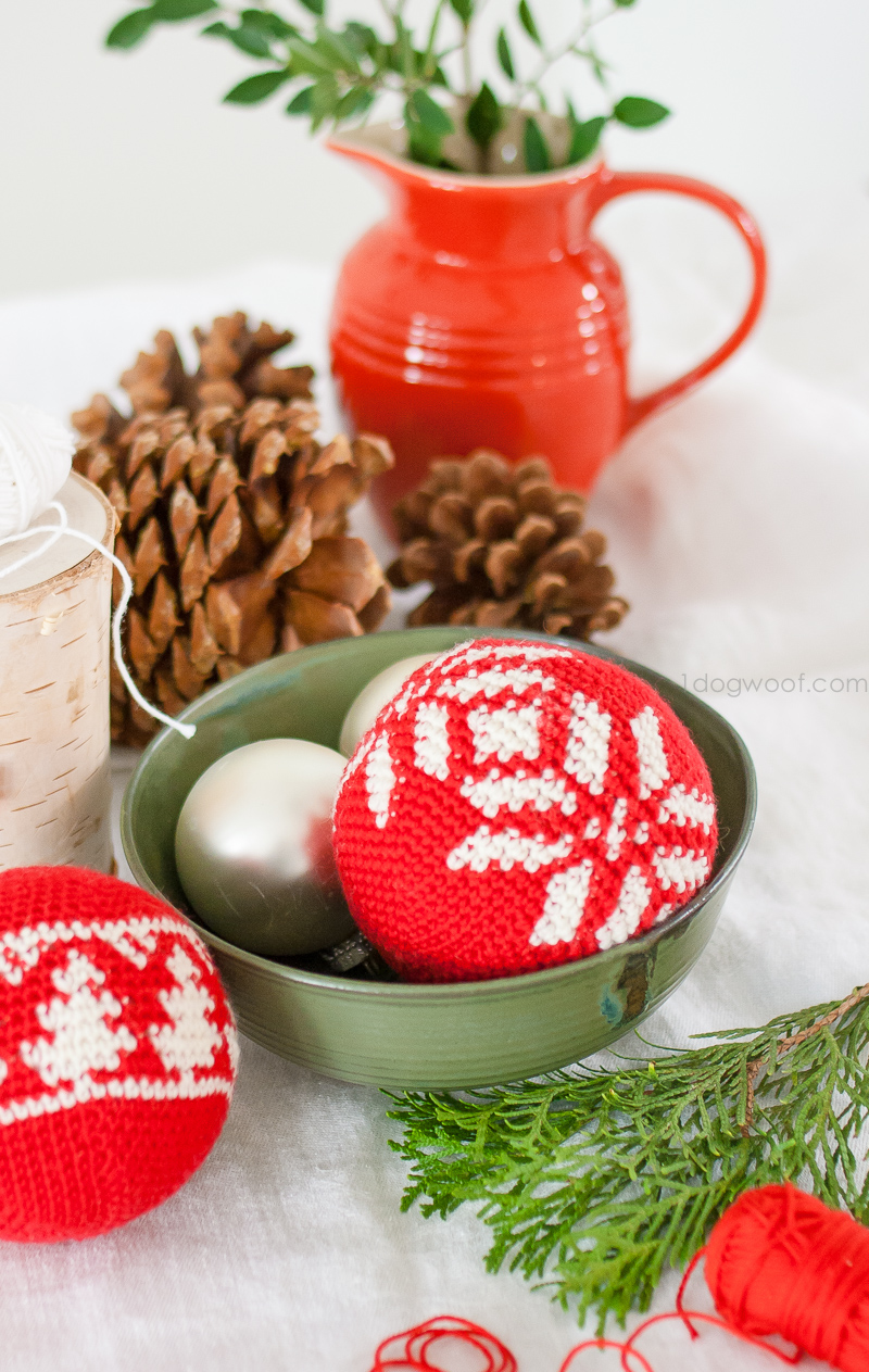 Fair Isle Snowflake Ornament for Christmas and the holidays, free crochet pattern | 1dogwoof.com