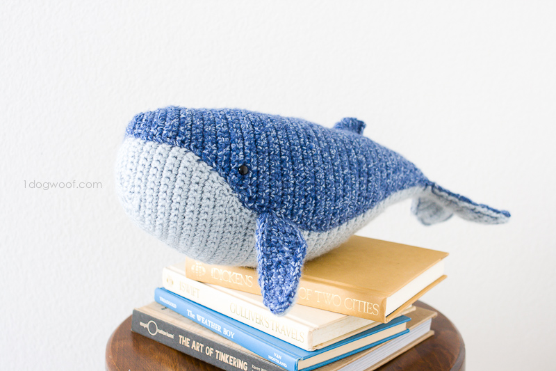 crochet whale stuffed animal
