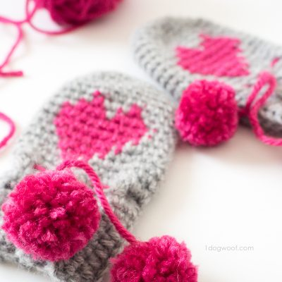 Baby Heart Mittens Valentine's Day Project