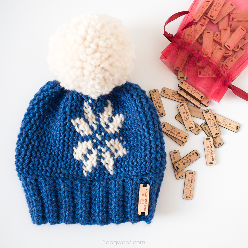 Pebble Beach Beanie with fair isle snowflake.