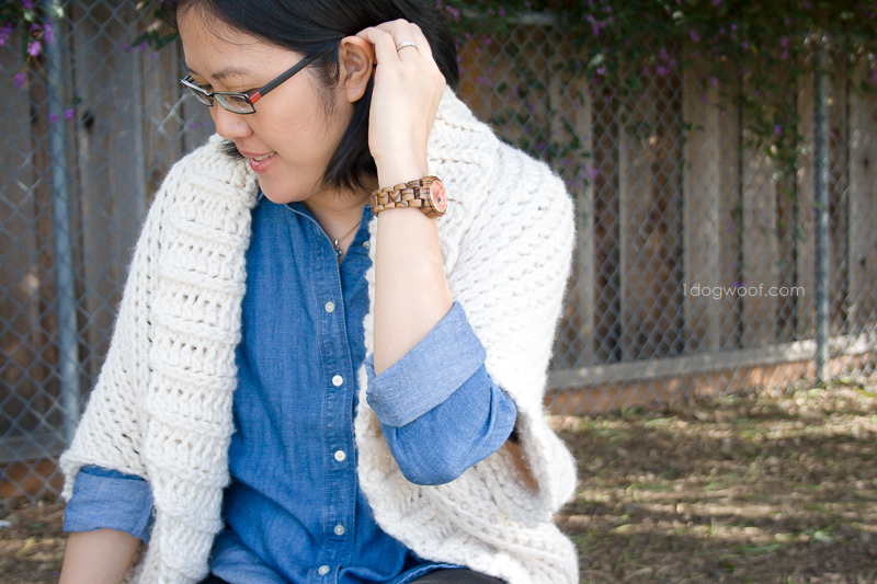 Casual and comfortable women's Zebrawood and Rosé wood watch
