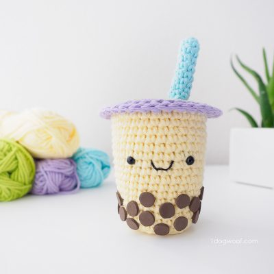 Boba Milk Tea Amigurumi Crochet Pattern