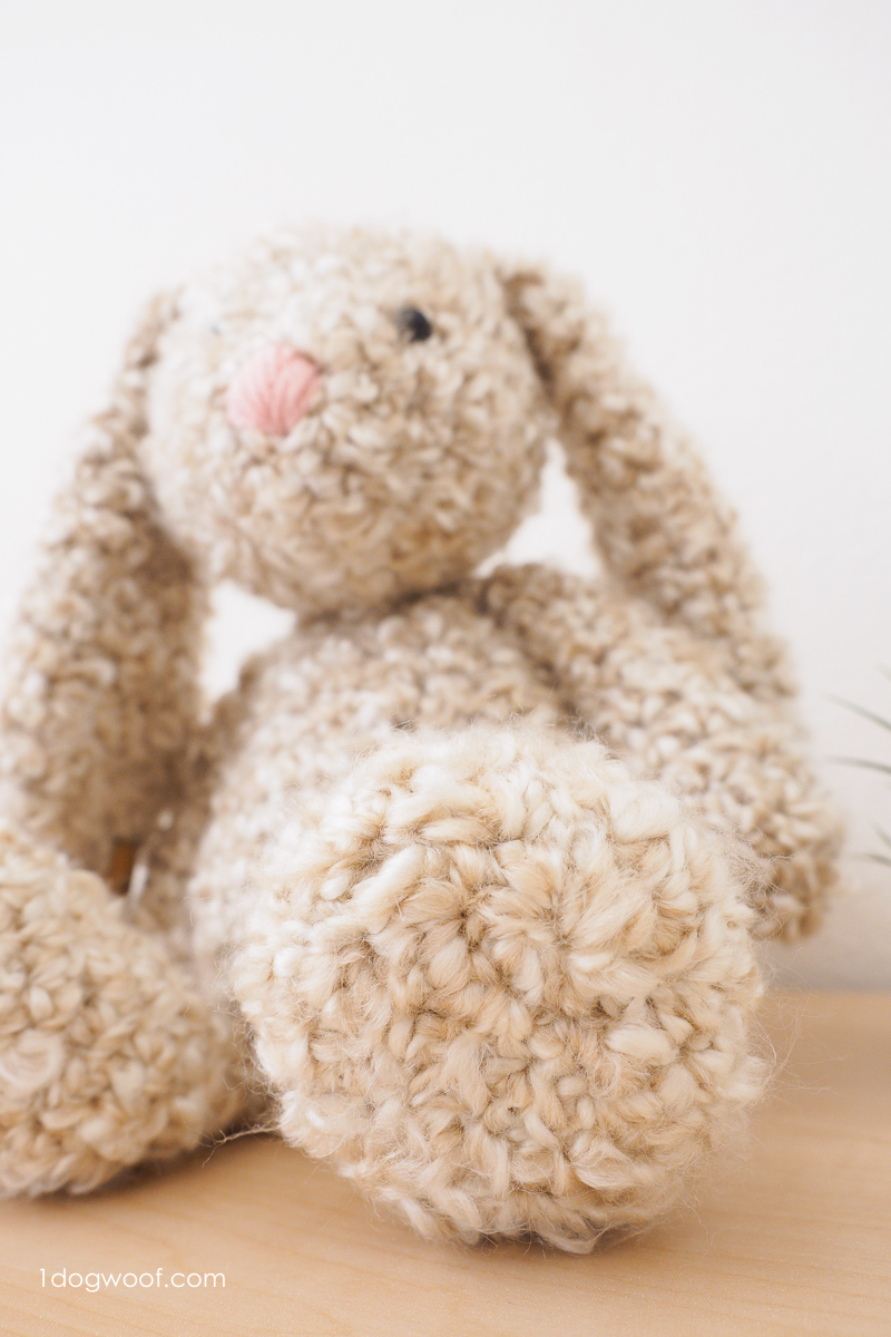 Classic stuffed bunny crochet pattern for easter one dog woof using homespun yarn to make a soft and squishy bunny rabbit bankloansurffo Choice Image
