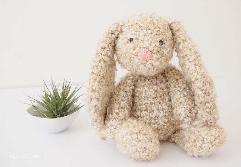 Classic Stuffed Bunny Crochet Pattern for Easter - One Dog Woof