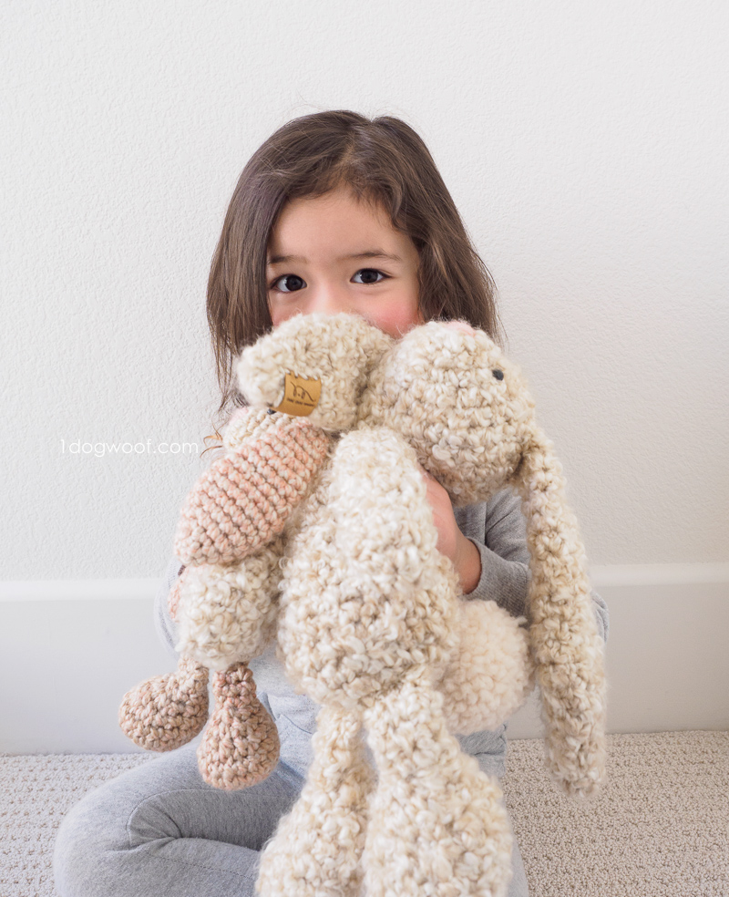Huggable stuffed bunnies