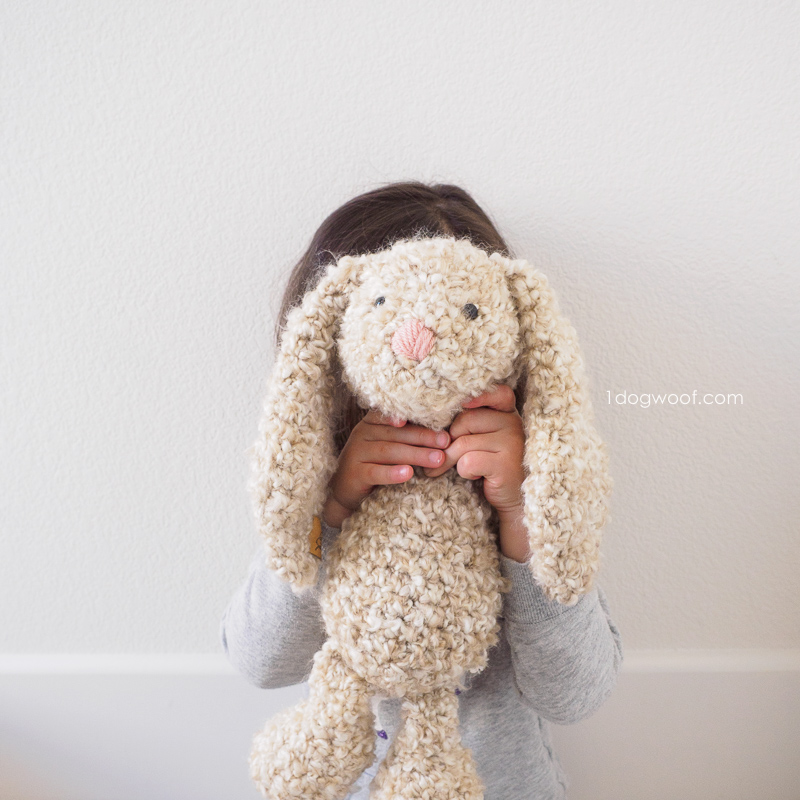 Free stuffed crochet bunny pattern for Easter.