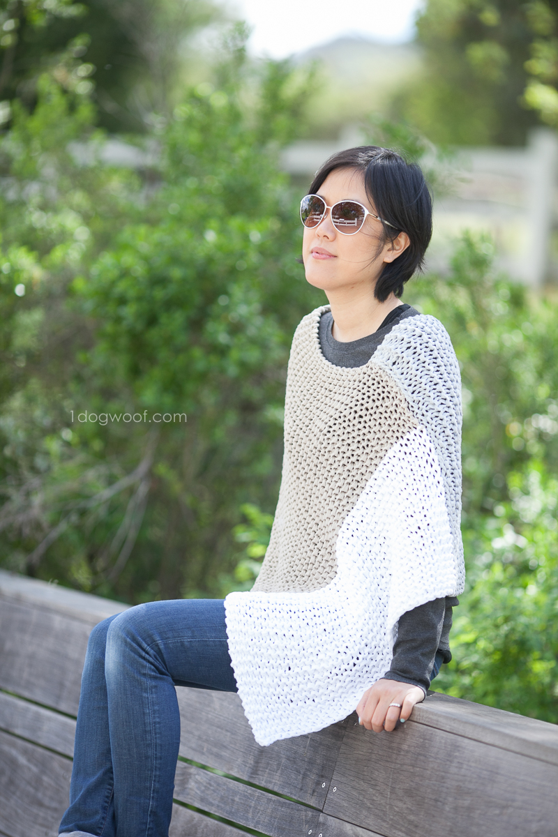 Easy knit modern poncho. Photo by Jeune Girl Studio