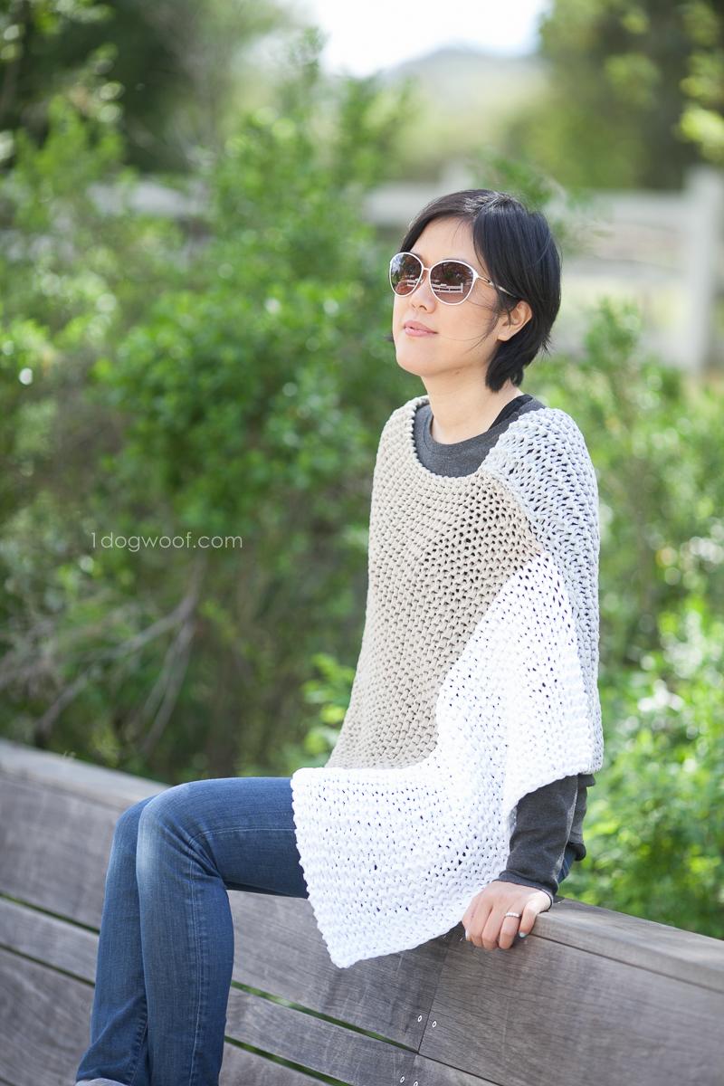 Easy knit modern poncho. Photo by Jeune Girl Studio