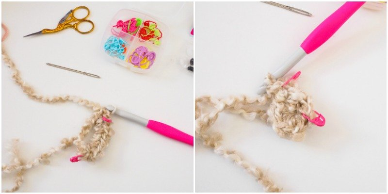 How to work with Lion Brand Homespun yarn