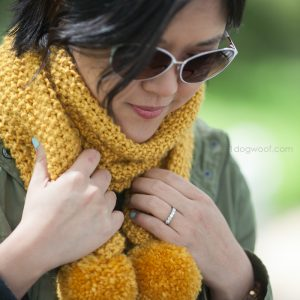 Amber Waves Seed Stitch Scarf Simple Knit