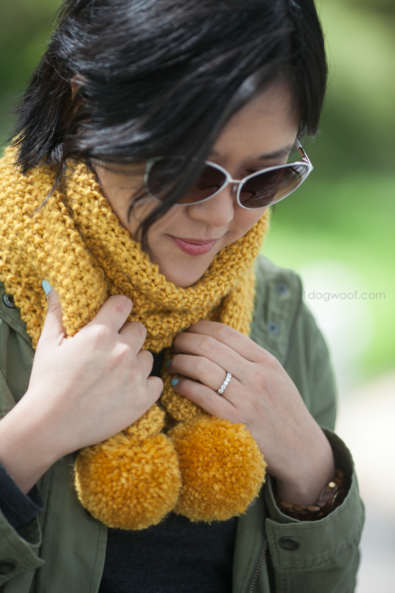 Simple seed stitch scarf, great starter project for beginner knitters