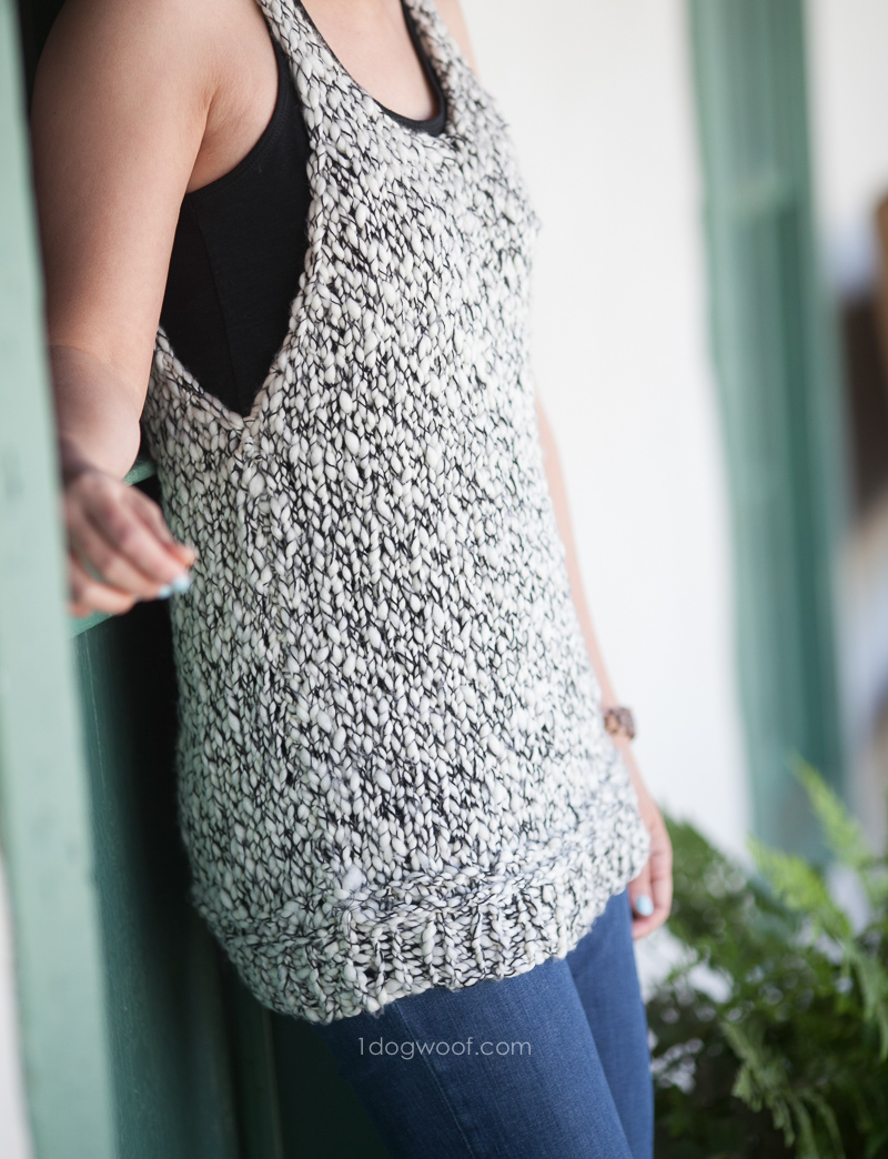 Caracol Tank Top Knitting Pattern - One Dog Woof