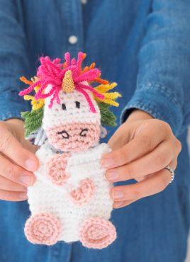Crochet Unicorn Gift Card Holder