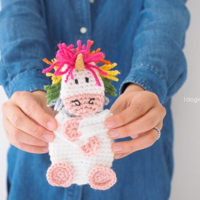 Crochet Unicorn Gift Card Holder