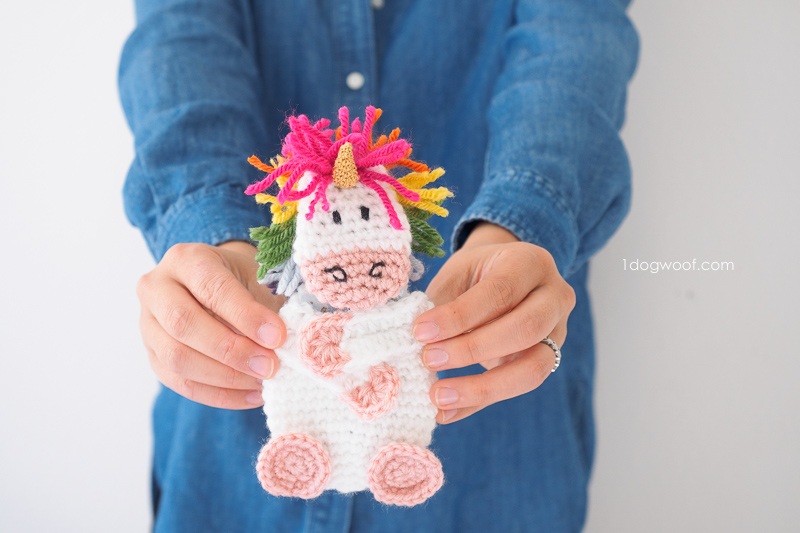 Crochet unicorn gift card holder one dog woof unicorn gift card holder 1dogwoof reheart Choice Image