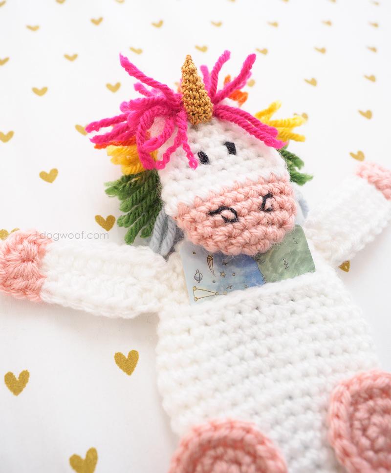 Rainbow unicorn Gift Card Holder   www.1dogwoof.com