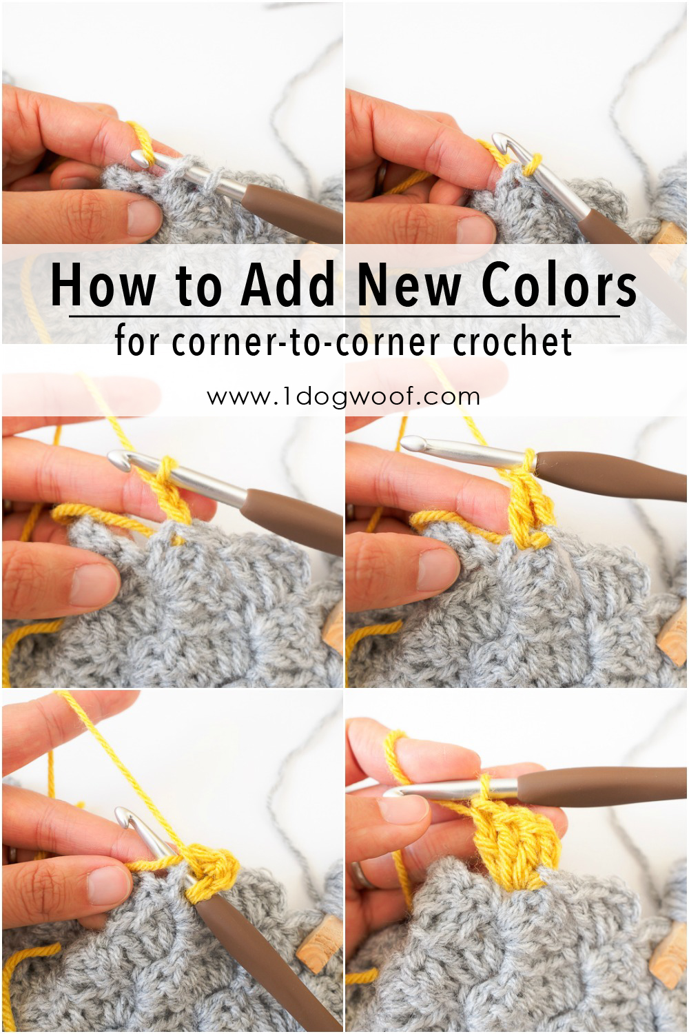 How to Add New Yarn for corner to corner crochet