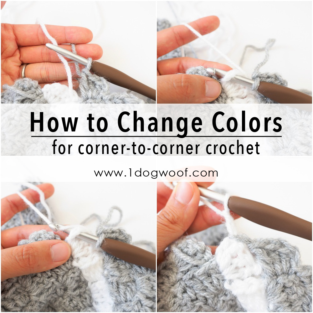 How to Pick Up Existing Color Changes in corner to corner crochet
