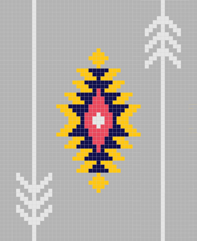 Southwest Sunburst Afghan graph