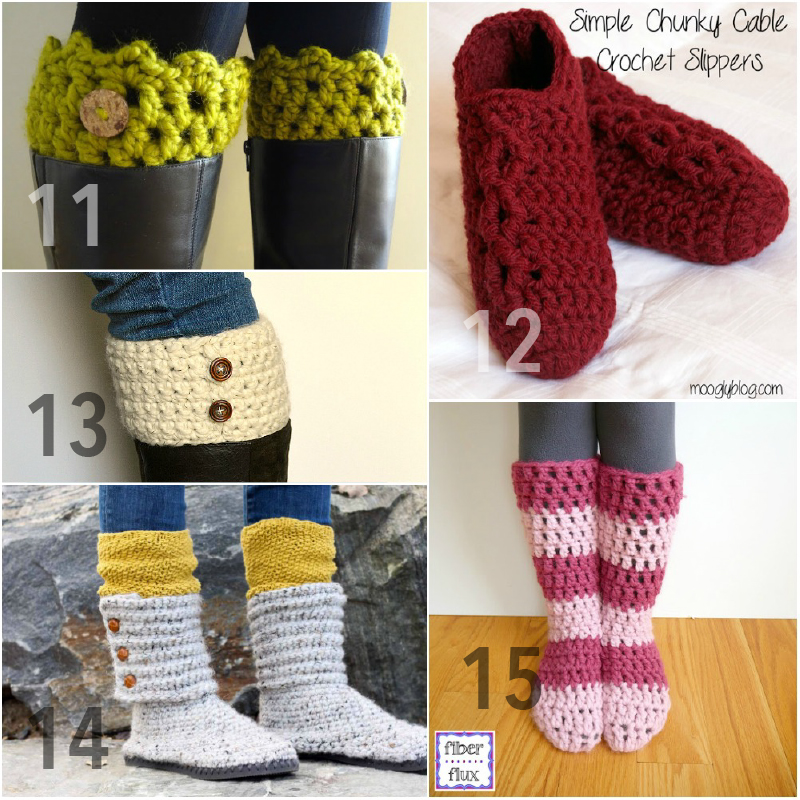 15 Free Chunky Crochet Patterns From Head To Toe Using