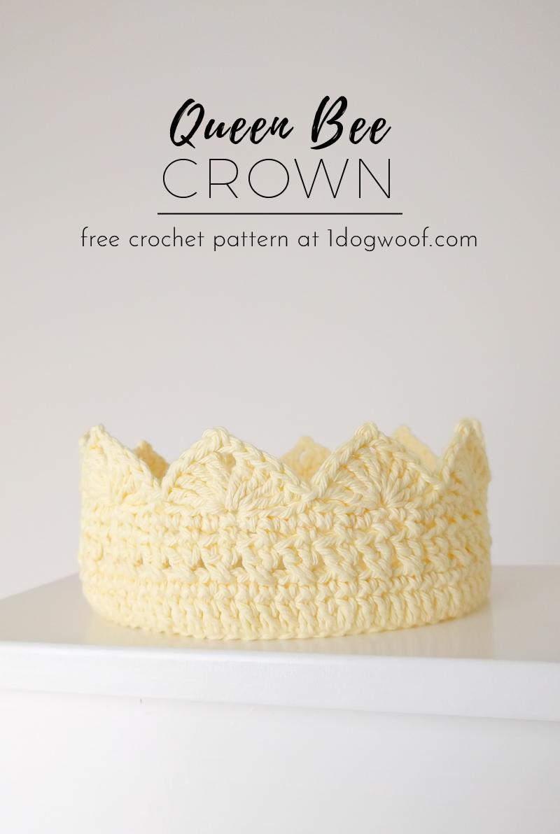 Queen Bee Adult Crochet Crown
