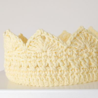 Queen Bee Adult Crochet Crown