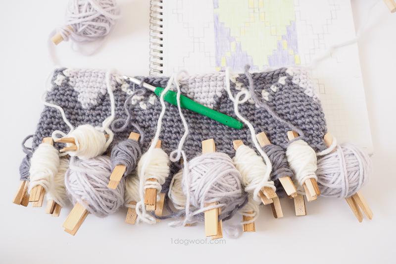 tapestry crochet bobbins