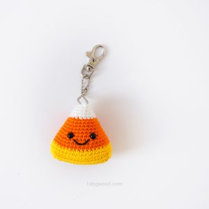 Candy Corn Amigurumi Keychain