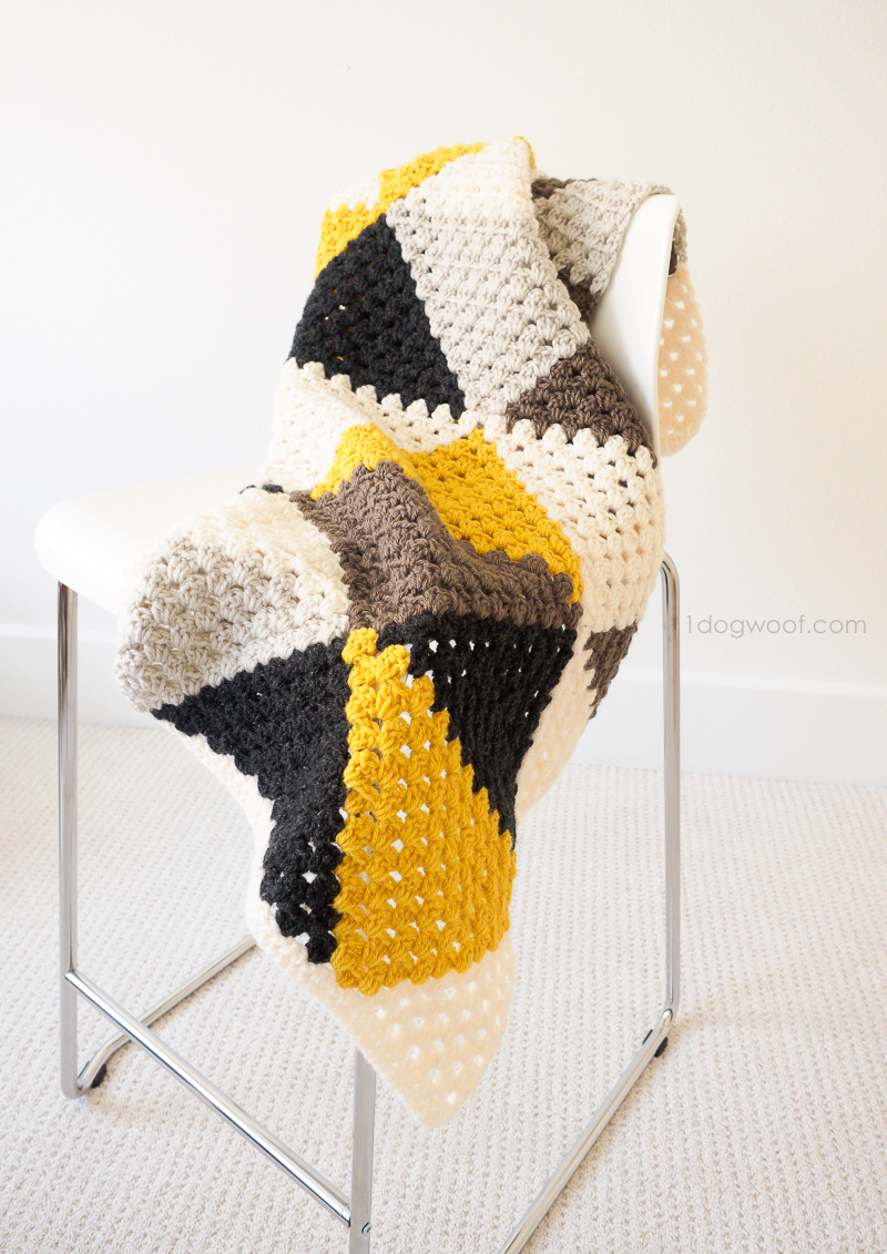 Love Triangles Granny Stripes afghan. A baby blanket to treasure.