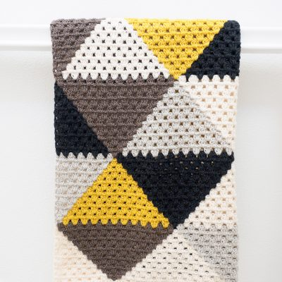 Love Triangles Granny Stripe Baby Blanket