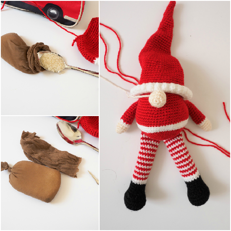 Scandinavian Santa Gnome Amigurumi One Dog Woof