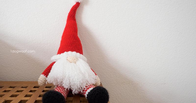 Scandinavian Santa Gnome Amigurumi One Dog Woof