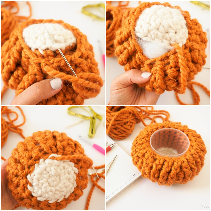 Stuffing your crochet pumpkin