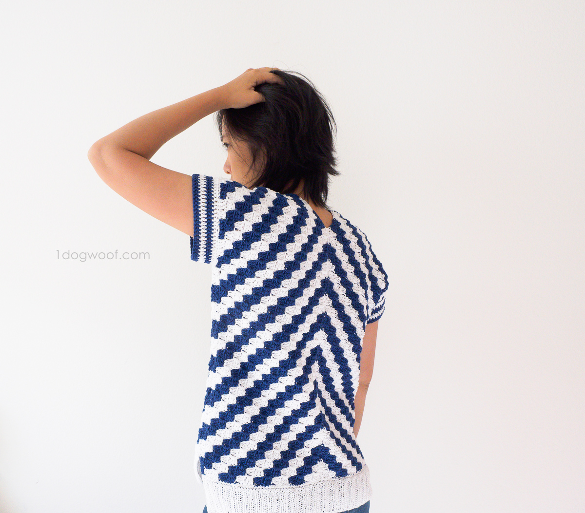 stunning stripes in a c2c crochet top