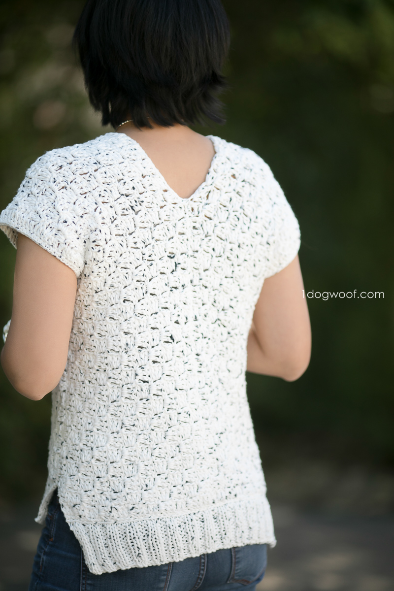 back view of c2c crochet top